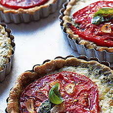 Tomato, Mozzarella And Basil Tart
