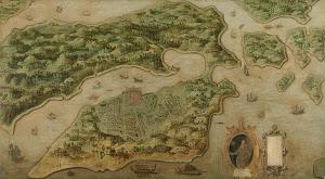 RIJKS: anoniem: View of Ambon 1617