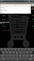 Screenshot of Talking shopping list