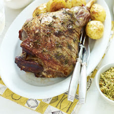 Roast Lamb With Spring Herb Crumbs