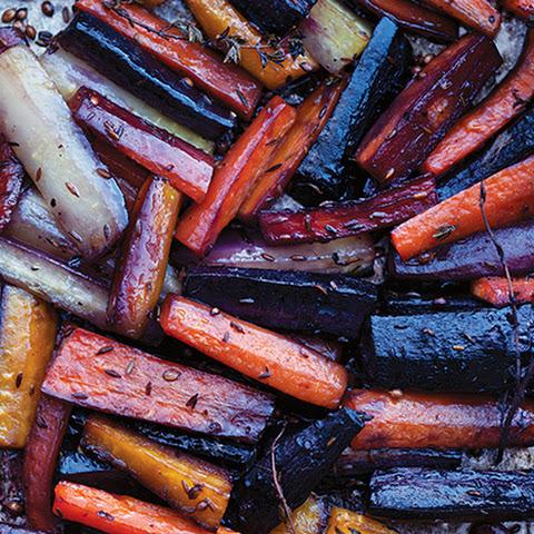 Honey-Roasted Carrots with Tahini Yogurt