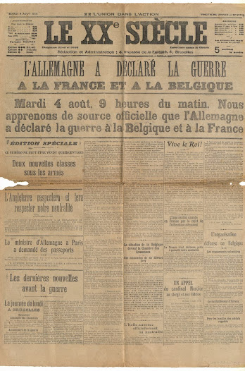 Some of the newspapers reporting the invasion