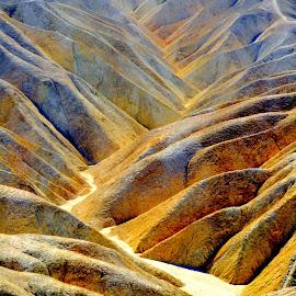 Ridge Valley Trail by Brian Blood - Landscapes Deserts ( death valley, dry creek, zabriskie point, desert, trail,  )