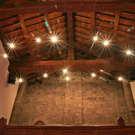 The Angel lights.Bryn Athyn. by Valerie Stein - Buildings & Architecture Other Interior ( Architecture, Ceilings, Ceiling, Buildings, Building )