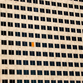 Missing window pane. by Dan Dusek - Buildings & Architecture Office Buildings & Hotels ( windows, office building, architecture, design, lost pane,  )