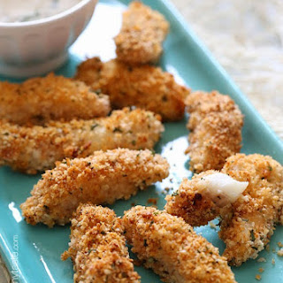 Healthy Baked Fish Sticks with Lemon Caper Sauce