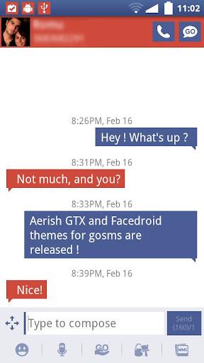 Facedroid GoSMS
