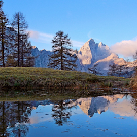 Sleme by Blaz Crepinsek - Landscapes Mountains & Hills ( slovenija, jalovec, reflection in lake, canon eos,  )