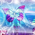 Beautiful Blue Butterfly Theme icon