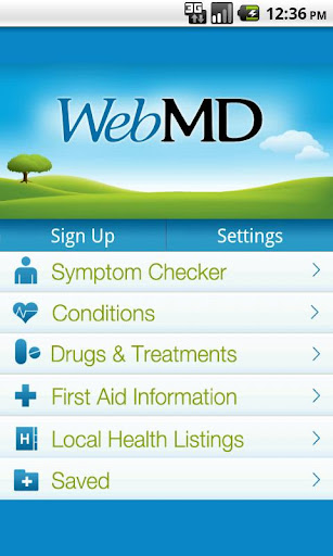 webmd-for-android for android screenshot