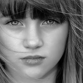 The Look  by Mark Scott - People Portraits of Women ( look, girl, people, young, hair, portrait, eyes, emotion, human )