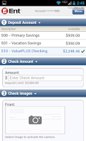 Screenshot of Ent Mobile Banking