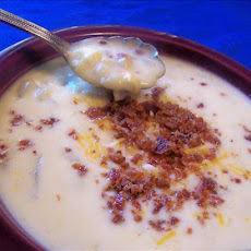 Corn Potato and Cheddar Cheese Chowder