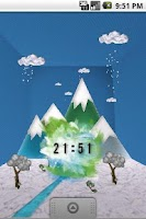 Screenshot of Watercolor Clock