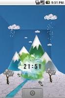 Screenshot of Watercolor Clock