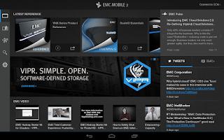 Screenshot of EMC MOBILE