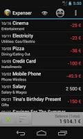 Screenshot of Expenser