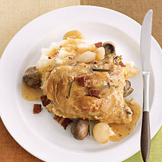 Chicken with Bacon, Mushrooms, and Onions
