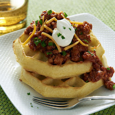 Ragu Turkey Chili Waffles