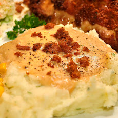 Caramelized Onion & Gorgonzola Mashed Potatoes