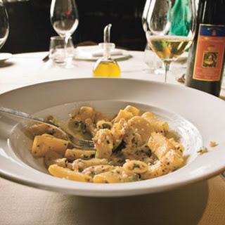 Rigatoni with Shrimp, Calamari and Basil