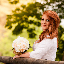 Stunning Redhead Bride by Chelsea Lewis - Wedding Bride ( international peace gardens, salt lake city photographer, bridals, bridal photos, utah bridals, bridal session, utah wedding photographer )