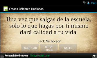 Screenshot of Frases Celebres Habladas