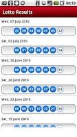 Screenshot of UK Lotto/Lottery Results