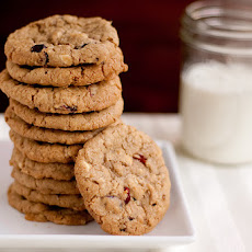 Cowboy Oatmeal Cookies with Cranberries and White Chocolate