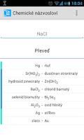 Screenshot of Chemické názvosloví