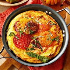 Heirloom Tomato, Ham and Fontina Frittata