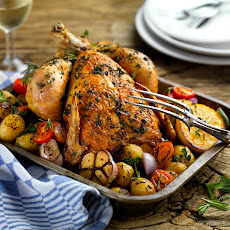 Roast chicken with Bertolli Spread by Gennaro