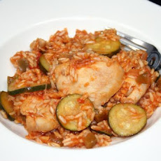 Zucchini, Chicken and Brown Rice Casserole