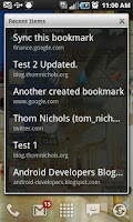 Screenshot of GMarks (Google Bookmarks)