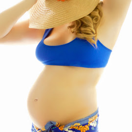 Maternity Selfie by Madison Dennison - People Maternity ( selfie, maternity, babies, self shot, self portrait, beach, people, portrait )