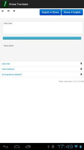 Shona Translator - screenshot