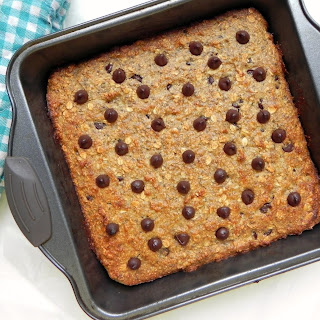 Healthy Chocolate Chip Banana Bread Bars