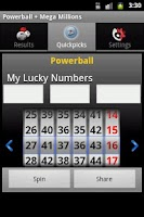 Screenshot of Powerball + Mega Millions