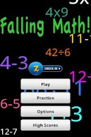 Screenshot of Falling Math