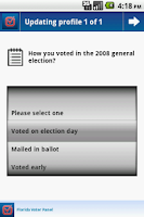 Screenshot of Florida Voter Panel
