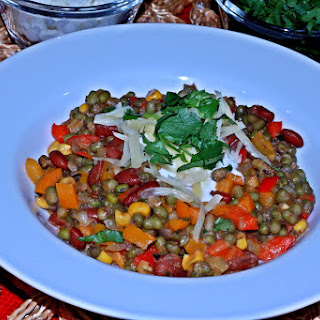 Rainbow Bright Green Lentil Chili