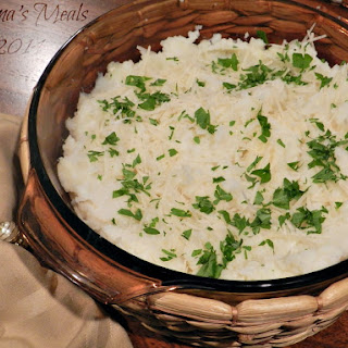 Leftover Parmesan Mashed Cauliflower & Potato for #SundaySupper