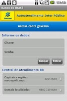 Screenshot of Autoatendimento Setor Público