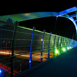 Pedestrian Overpass by David Kimber - Buildings & Architecture Bridges & Suspended Structures