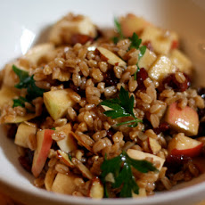 Dinner Tonight: Apple, Almond, and Smoked Mozzarella Farro Salad