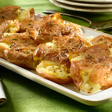 Garlic Smashed Potato Cakes