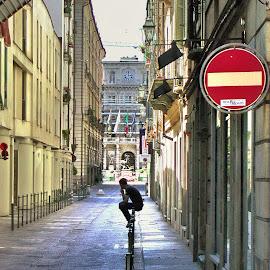 Man thinking.. by Marco Poli - City,  Street & Park  Street Scenes