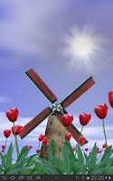 Screenshot of Tulip Windmill Live Wallpaper