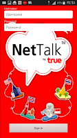Screenshot of NetTalk by True