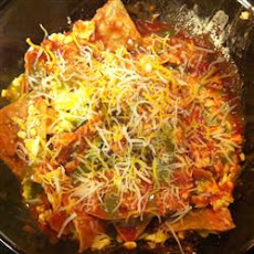 Easy Microwave Chilaquiles